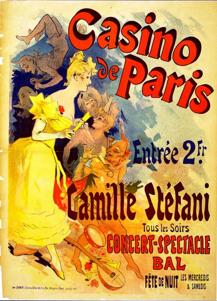 Affiche 1891 Casino de Paris