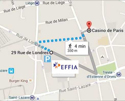 Plan parking Effia